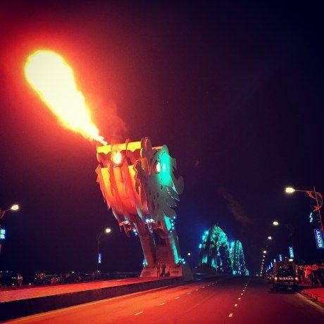 Dragon Bridge - Da Nang - Vietnam - Tourist Hot Spot - Fire-Breathing Dragon Bridge