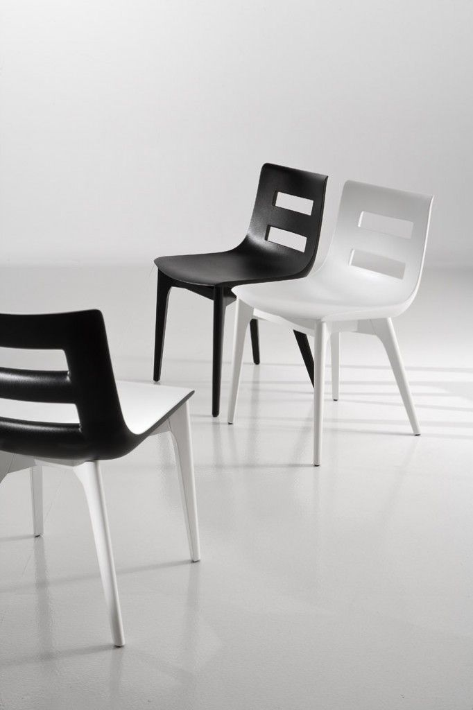 it's a girl in black and white from chairs and more