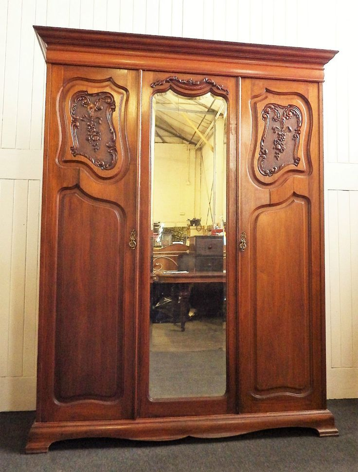 Antique large victorian #french #style carved #walnut double door wardrobe,  View more on the LINK: http://www.zeppy.io/product/gb/2/201611113744/