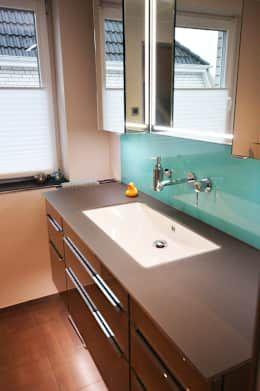 So reinigt ihr euren Abfluss - Unterbauwaschbecken und Wandarmatur von Glasdesign Schenk