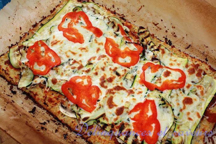 Délinquances et saveurs: Pizza à croûte de chou-fleur
