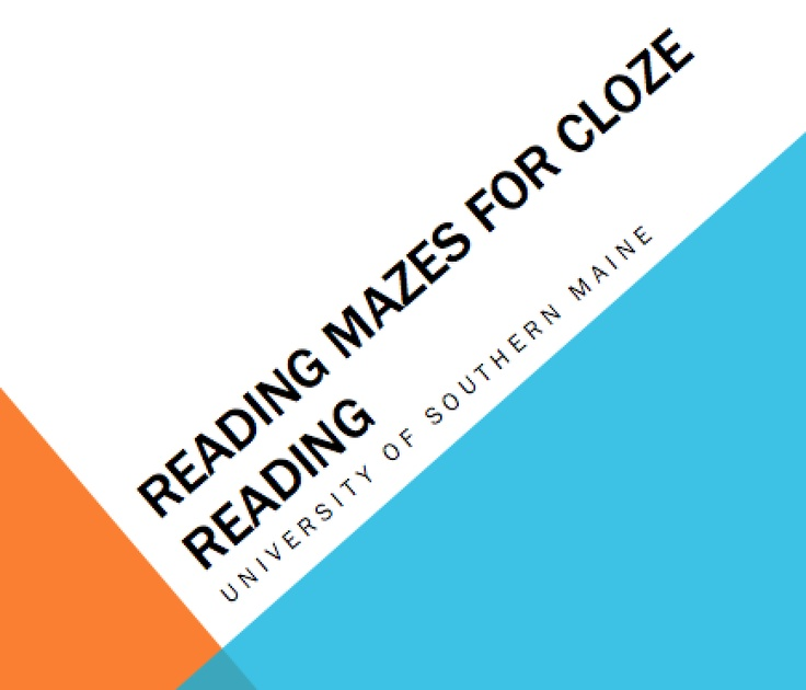 CBM testing - Cloze reading.  I would use this as a reading comprehension assessment for progress monitoring.  I found this on Pinterest.