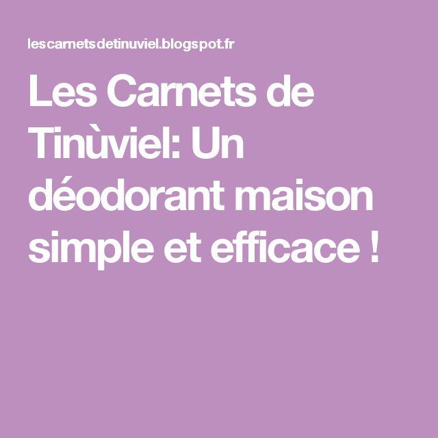 Les Carnets de Tinùviel: Un déodorant maison simple et efficace !