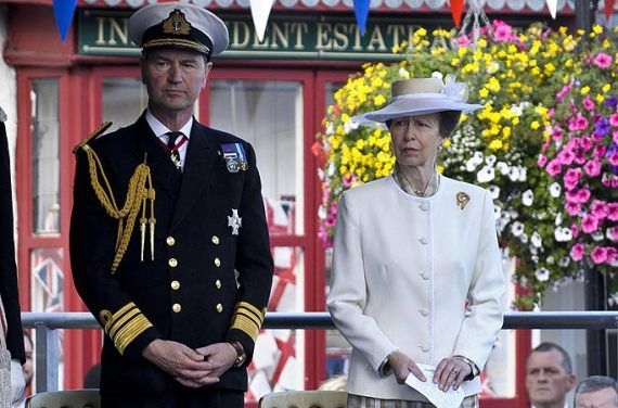 VICE ADMIRAL SIR TIMOTHY LAURENCE & ANNE, THE PRINCESS ROYAL