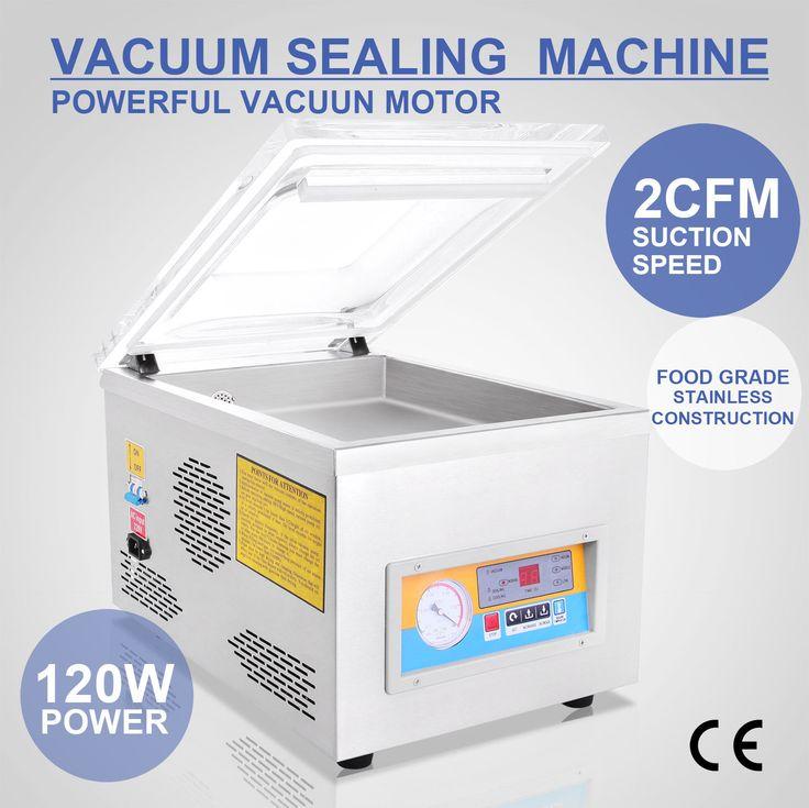 "370W 22"" Commercial Vacuum Sealer Food Sealing Machine Seal Bar System W/Display"
