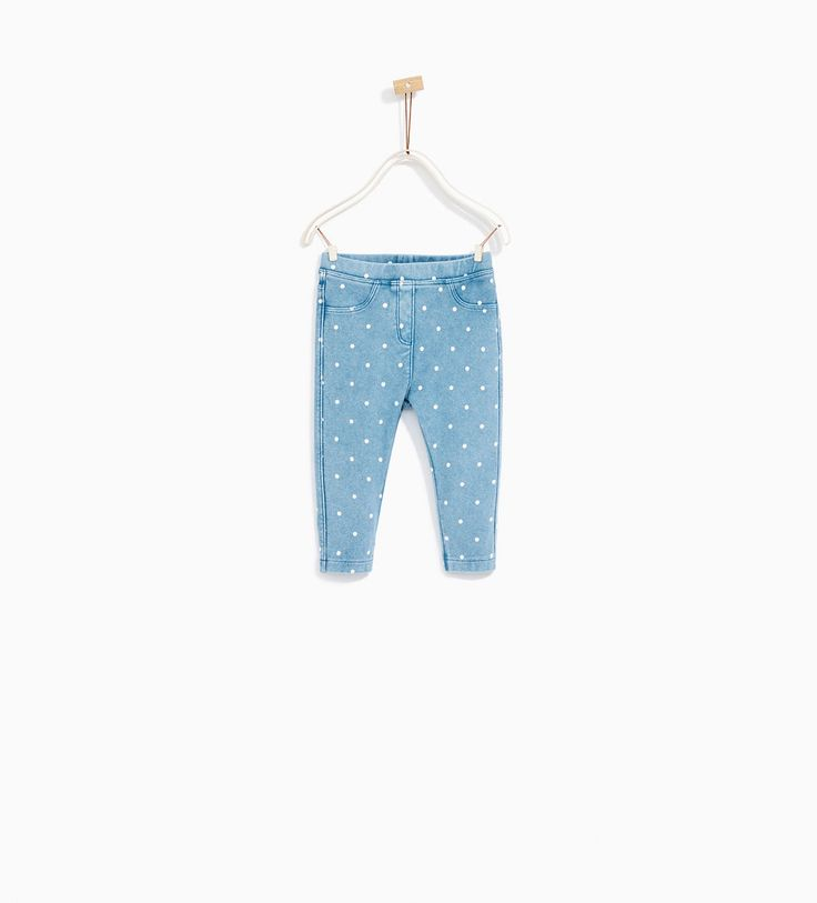 PLUSH LEGGINS WITH POLKA DOTS-LEGGINGS AND TROUSERS-BABY GIRL | 3 months - 4 years-KIDS | ZARA United States
