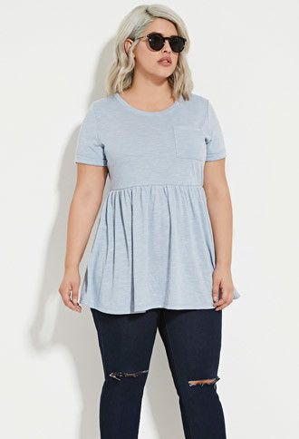 Plus Size Marled Tunic | Forever 21 PLUS - 2000151220