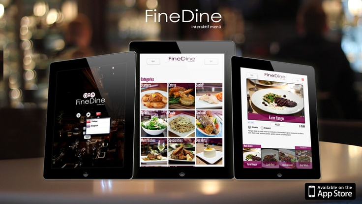 FineDine Digital Tablet Menu for Restaurants, Bars & Cafes