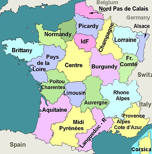 @PinFantasy - Regions of France ~~ For more:  - ✯ http://www.pinterest.com/PinFantasy/viajes-~-la-france-en-images/