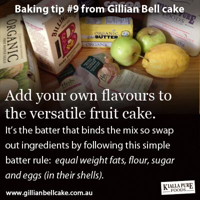 Add your own flavours to a fruit cake by following the batter rule.