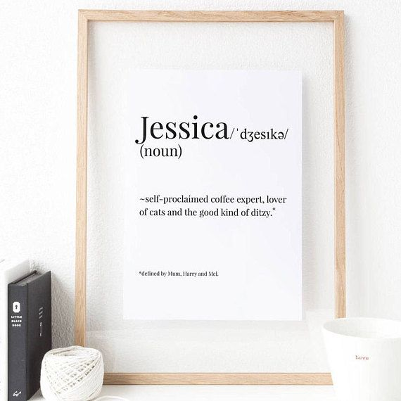 Definition print ~ Wedding gift ~ Personalised gift ~ Gift for her, him ~ Gifts for the couple ~ Housewarming gift ~ Hoard Pretty Things