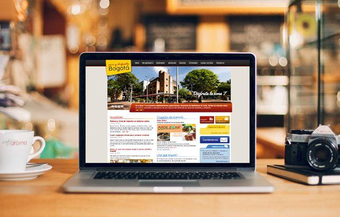 Diseño de Sitio Web Vive y Disfruta Bogotá implementado en Wordpress complementado con plugins Cforms y Wp-property
