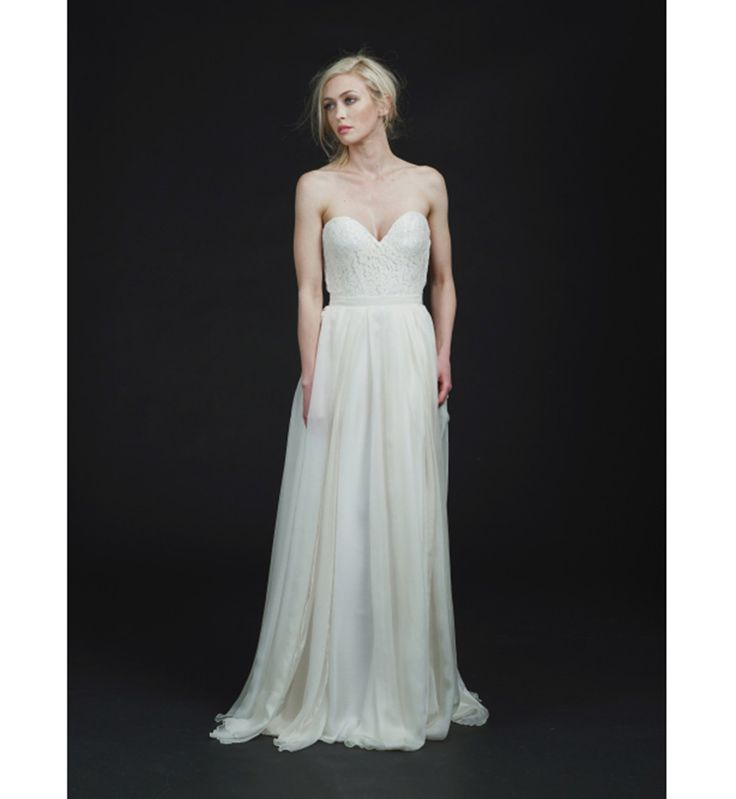 Robe de mariée 2016 : la robe de mariée bustier de Sarah Seven