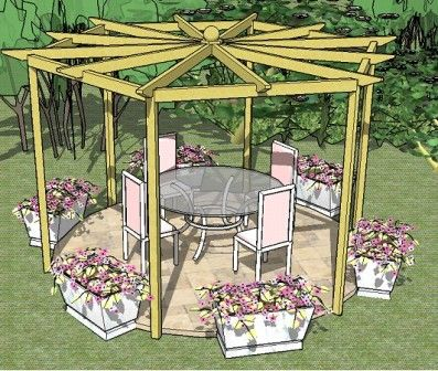 Hexagon Gazebo Plans | Hexagonal Gazebo Plans – Free Plans for Building a 6 sided gazebo