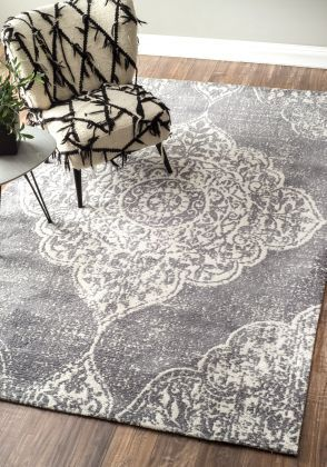 Sombre AM02 Medallion Grey Rug | Contemporary Rugs #RugsUSA