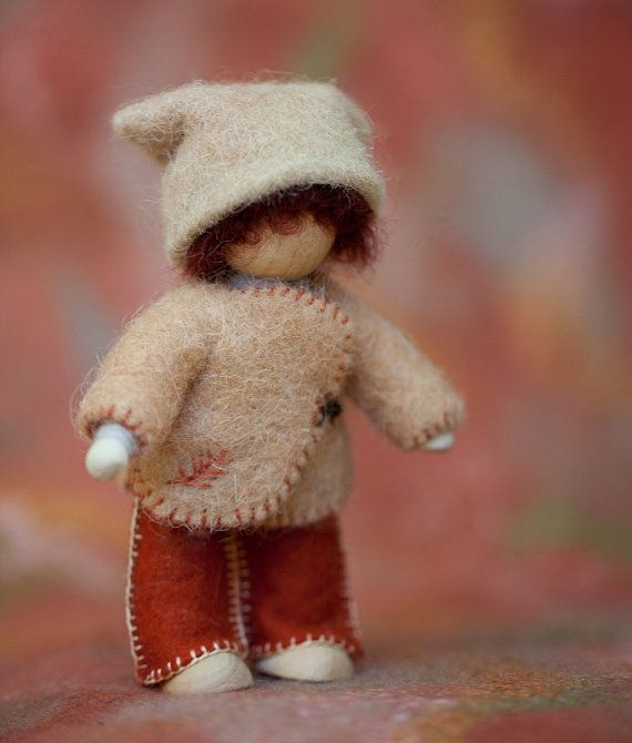 felt gnome DIY craft kit mama plant dyed by ZuzuAndMe on Etsy