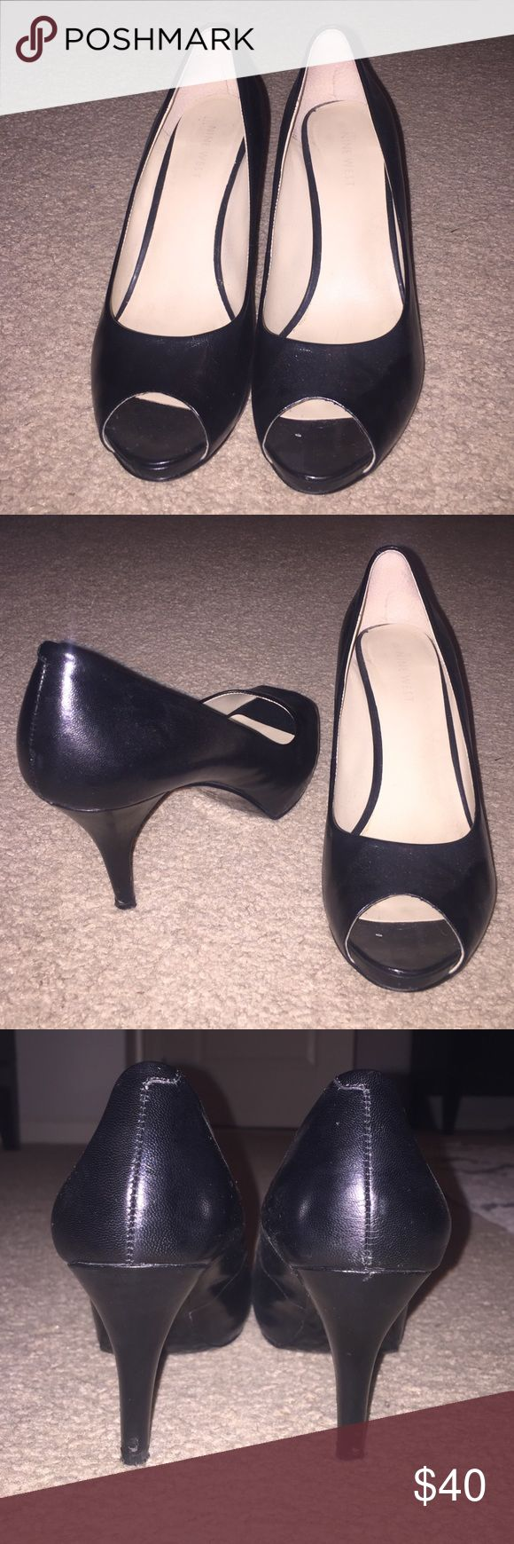 Nine West Peep Toe Pumps Black Nine West Peep Toe Pumps. Only worn a few times. Nine West Shoes Heels