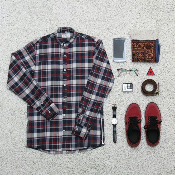 flannel koko zipper by maen. Follow our instagram @m.a.e.n for more info.