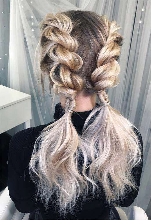 Long Hair Braids: Braided Hairstyles for Long Hair: Double Braid Twist #longh…