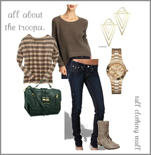 All about the troopa - military inspired tall outfit.