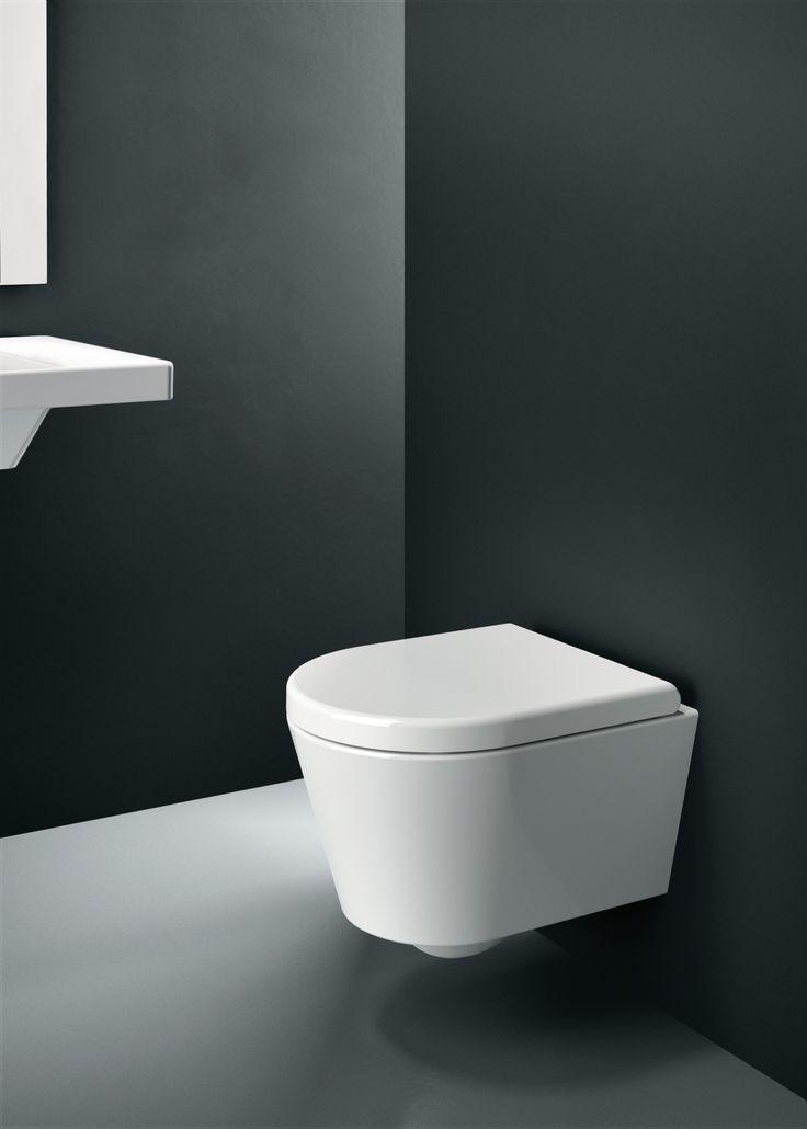 GSI ceramic | Norm, Wall-hung wc 45x36 cm