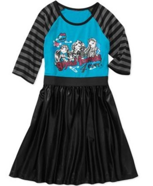 Monster High Girl's Dress New With Tag Size 7/8 Clothing