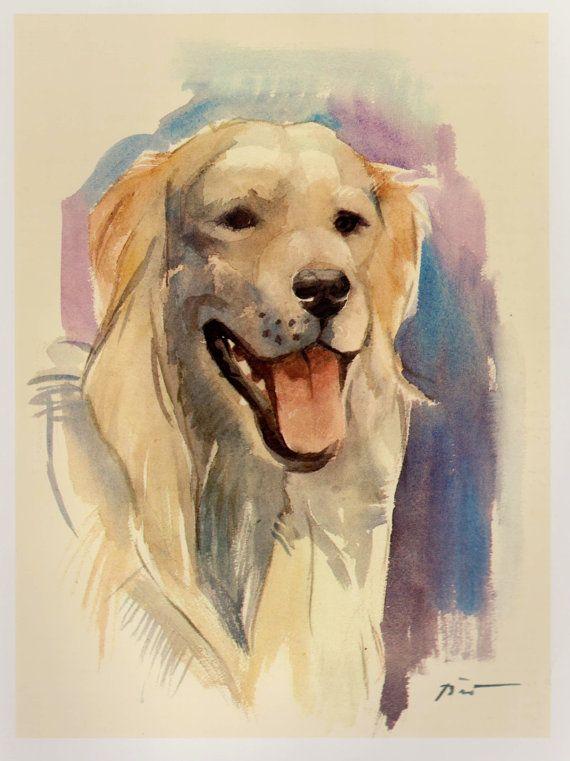Beautiful HOVAWART Print Vintage Hovawart Dog Illustration Cottage Home Decor Gallery Wall Art Plaindealing 1058