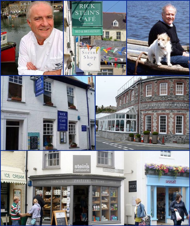 "Rick Stein and Chalky (RIP) Padstow Cornwall. Christopher Richard (Rick) Stein OBE (born 4 January 1947) is an English chef, restaurateur and television presenter. He is currently the head chef and co-owner of ""Rick Stein at Bannisters"" at Mollymook, New South Wales, Australia, owns four restaurants in Padstow, a fish and chip shop in Falmouth, Cornwall, and has written or presented a number of cookery books and television programmes. Early years: Of German descent, Stein was born on 4…"