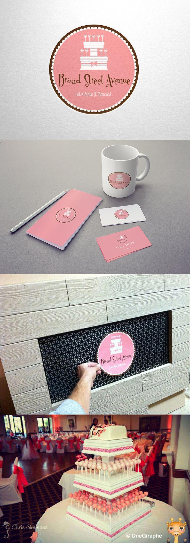Broad Street Avenue #logo #logodesign #design #graphicdesign #portfolio #designer #cake #cupcake #macaroon #cakepops #stand #wood #store #sweet #pink