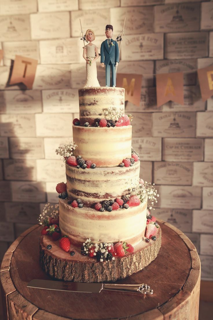 Increíbles pasteles de boda rústicos