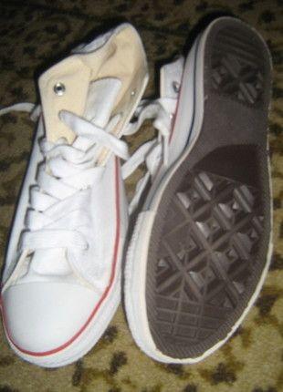 Kup mój przedmiot na #vintedpl http://www.vinted.pl/damskie-obuwie/inne-obuwie/6155914-biale-trampki-za-kostke