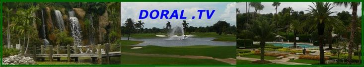 Doral Florida west of the Miami International Airport and nestled between the Ronald Reagan Turnpike and the Palmetto Expressway is known for the Doral Golf Resort and Spa
