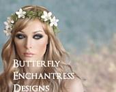 Rustic Flower Crown, Bridal Hair Accessory, Wedding Halo - Woodland Camellia Floral Wreath Set - Bohemian Wedding. $115.99, via Etsy.
