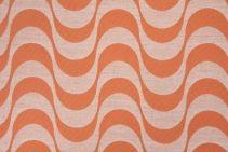 3 Yards Baja Upholstery Fabric in Tangerine