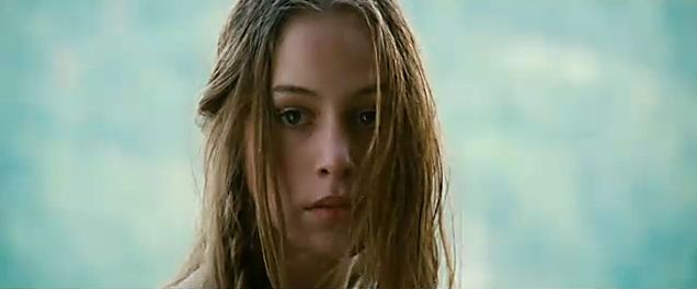 "Jodhi May as Alice Munro in Michael Mann's film ""The Last of the Mohicans"" . The plot bears scant resemblance to the original novel but the photography, landscape, and soundtrack are outstanding."