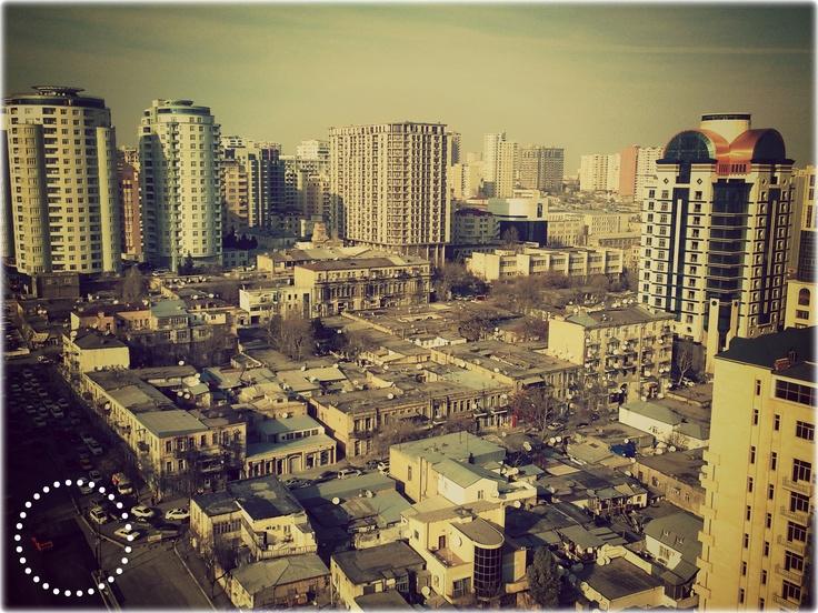 Baku view from Caspian Busines Center  Bakou vue de Caspian Centre D'affaires