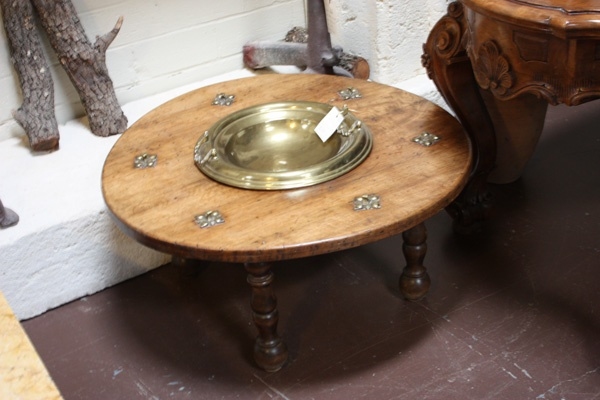 here is a great 19th century spanish walnut and brass brasero table circa 1880 measurements are. Black Bedroom Furniture Sets. Home Design Ideas