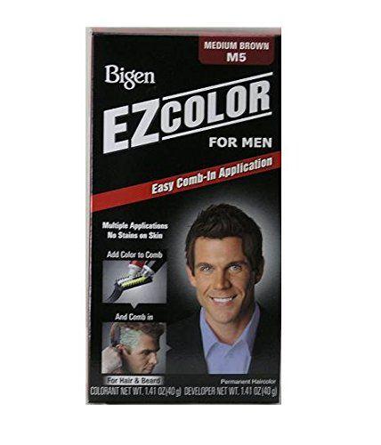 Bigen EZ-COLOR Mens Medium Brown Hair Dye for Hair or Beard (3-PACK), Easy Comb-In Application >>> For more information, visit image link.