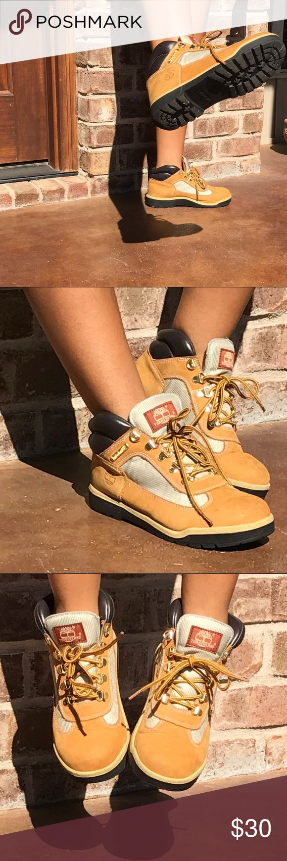 Wheat Timberland Field Boots Boys Sz 5 or Womens 7 Boot Season!! Perfect for Any Person any age!  Timberland Field Boots Timberland Shoes Lace Up Boots