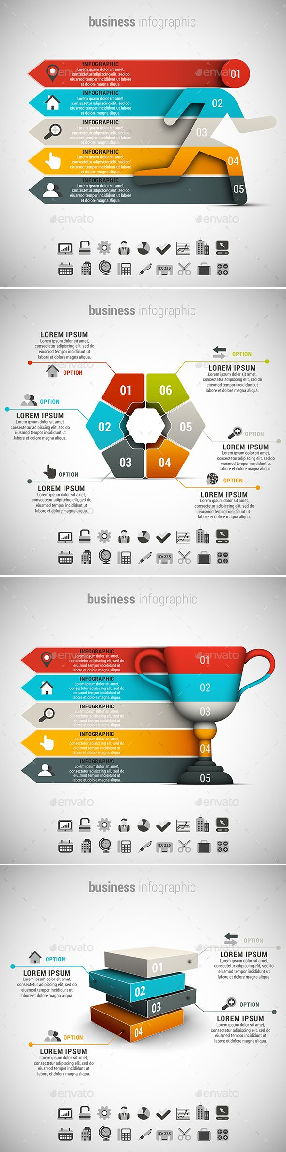 4 in 1 Business Infographics Template Bundle. Download here: http://graphicriver.net/item/4-in-1-business-infographics-bundle/15463927?ref=ksioks