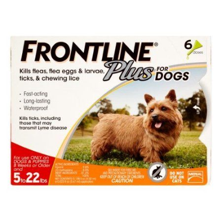 Frontline Plus Flea and Tick Treatment for Small Dogs, 6 Doses