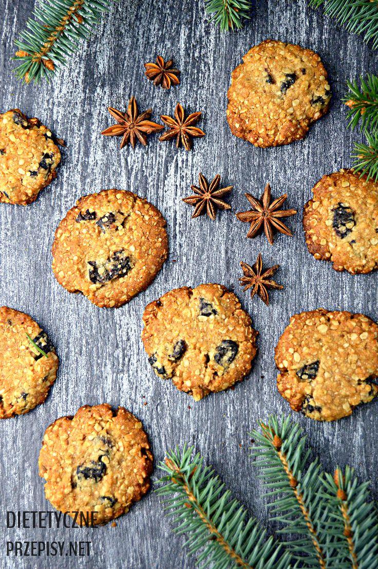 Owsiane ciastka w wersji świątecznej z korzennym arom…