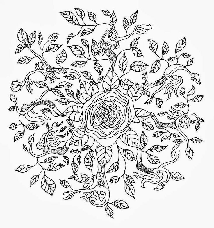 Dryad mandala to color