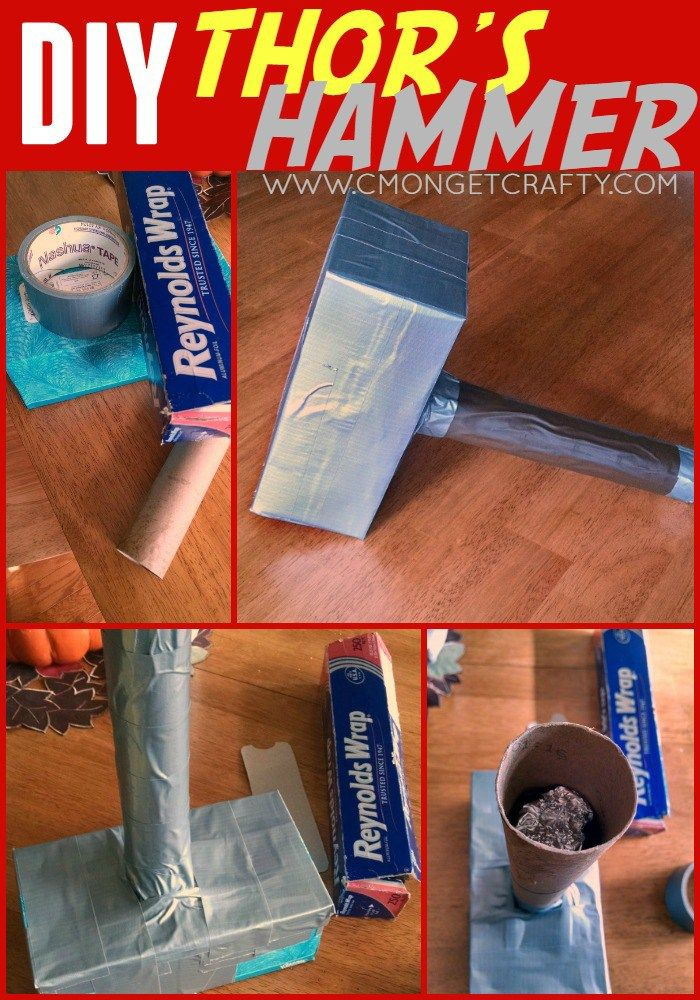 Crafty Quickie: DIY Thor's Hammer - C'mon Get Crafty - Visit to grab an amazing super hero shirt now on sale!