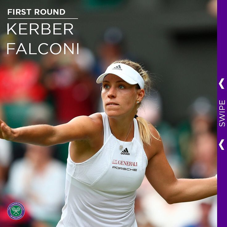The tale of @angie.kerber's opening round win on Centre Court... . #Wimbledon #instasport #tennis #Kerber