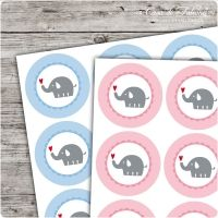 Motivaufkleber Elefant