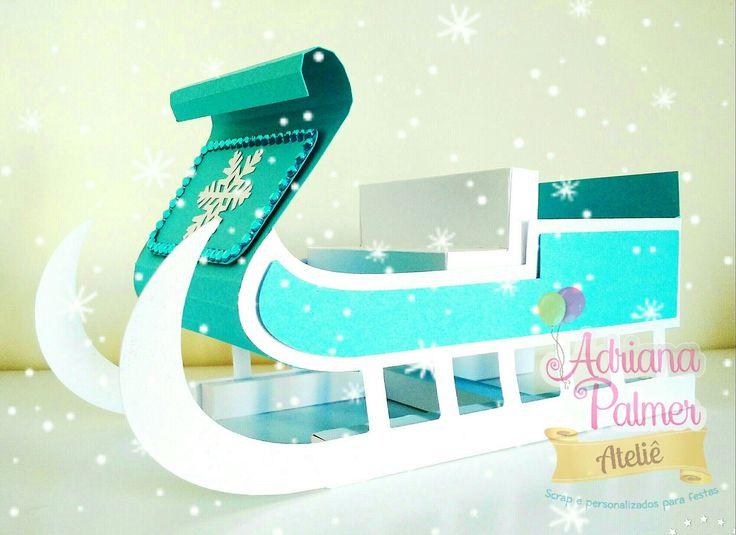 Encante seus convidados com este lindo trenó tema Frozen! <br> <br>Ideal para decorar a mesa de doces ou para presentear como lembrancinha. <br> <br>*Pode ser confeccionado em outras cores; <br>*produzido com papéis especiais de 180gr (colorido) e 240g. ( branco) <br> <br>Qualquer dúvida entre em contato. Será um prazer atendê-lo(a).