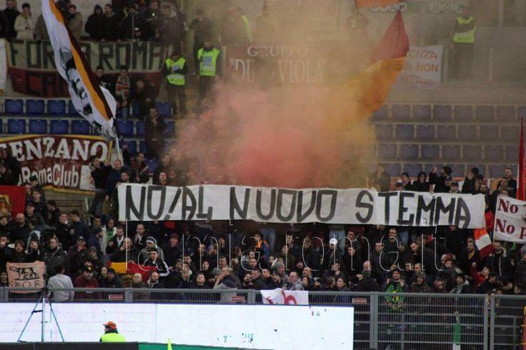 20 Gennaio 2015 Roma - Empoli 2-1 d.t.s (Coppa Italia)  NO AL NUOVO STEMMA!
