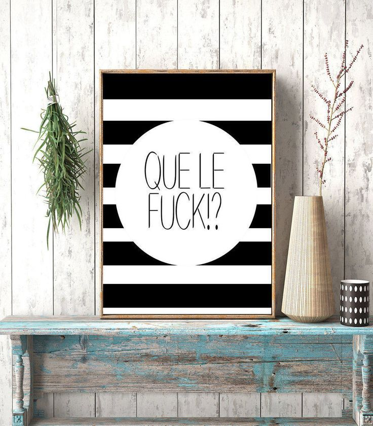 Que le Fuck!? Digital Download, Printable Art,Que Le Fuck,French, Paris Quote, French Art, Pardon my French, Fine Art Print,Typography Art by photoplasticon on Etsy