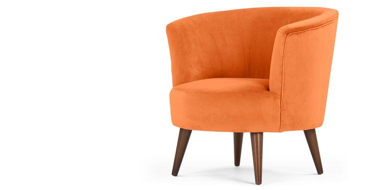 Lulu Scoop Chair, Chatelet Orange